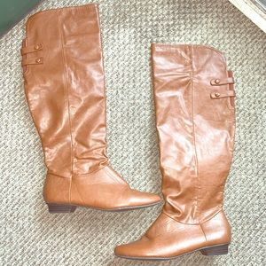 Brown knee high Charlotte Russe boots